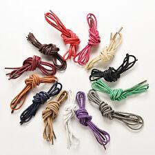 NEW Black Waxed Cotton Dress Shoe Laces 33.5 Inch 85cm Shoelaces 2.5mm Pair
