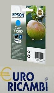 Cartuccia-EPSON-T1292-MELA-CIANO-ORIGINALE-C13T12924012-Fattura-amp-Scontrino