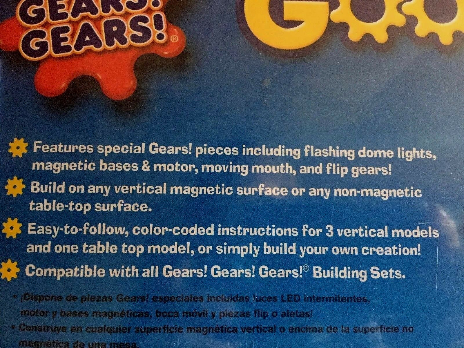 BRAND NEW SEALED Goofy Grins Grins Grins Magnetic Gears 118 Pieces Motorized Learning Faces 73de36