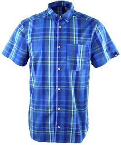 Adidas-ed-Check-camisa-outdoor-Hiking-senderismo-recreativas-camisa-manga-larga-senores-azul