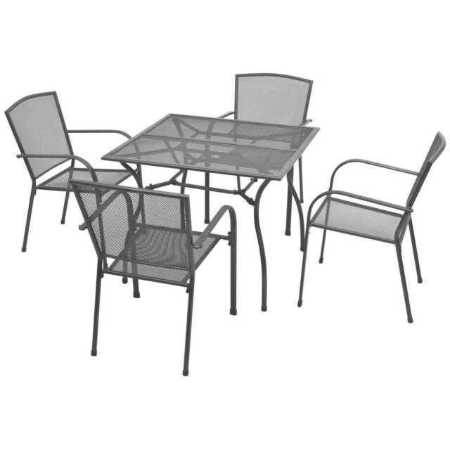 Vidaxl Outdoor Dining Set 5 Pieces