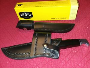 BUCK 119 SPECIAL FIXED BLADE HUNTING KNIFE MADE IN USA Black handle
