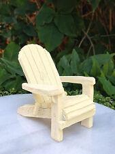 Miniature Dollhouse FAIRY GARDEN ~ Sea BEACH Lake Cream Resin Adirondack Chair