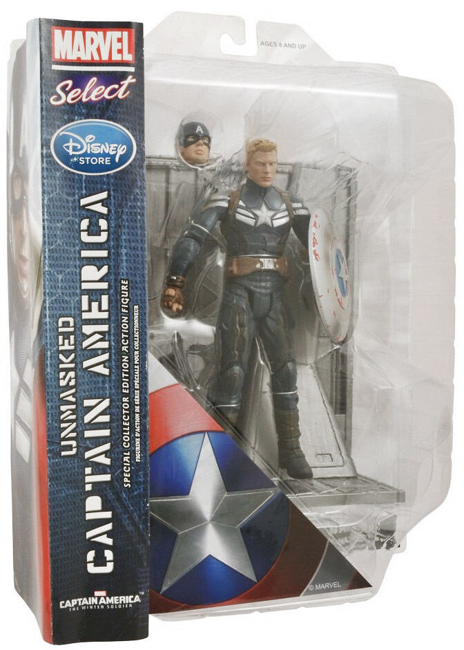 nouveau  MARVEL DIAMOND SELECT CAPTAIN AMERICA THE WINTER SOLDIER UNMASKED FIGURE  beaucoup de concessions