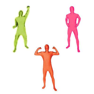Adulto Morphsuit Luminosi Arancione, Rosa, Verde, Autentica Adulto Strutturare Suit Costumes-mostra Il Titolo Originale