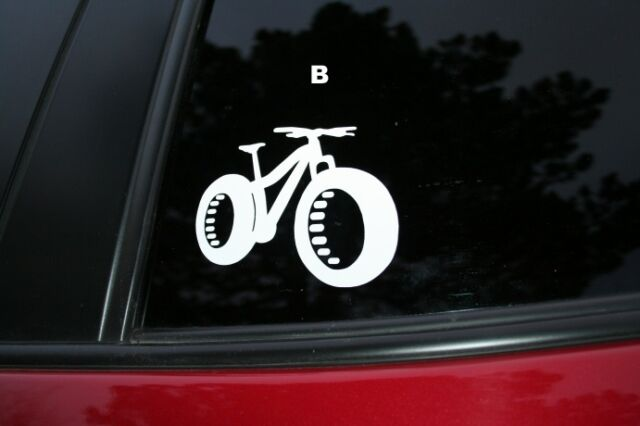 Fat bike die cut car window sticker buy 2 get 1 free offer