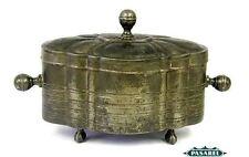 Rare Antique Pewter Ethrog Box Germany Ca 1880