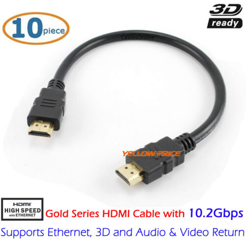 Lot Pack of 1 2 3 5 10 3ft 6ft 10ft 25ft 50ft Premium HDMI Cable Video Cable