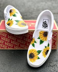 Custom sunflower vans | eBay