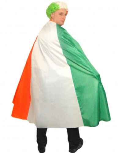 St Patrick/'s Day Unisex Costume Irish Shirt Flag Wigs Tie Cape Hats All In One