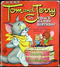 Tom and Jerry in Tom's Happy Birthday © 1955 Whitman Tell A Tale 2611