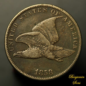 1858-Flying-Eagle-Cent-1c-034-Small-Letters-034-102020-01E-Free-Shipping