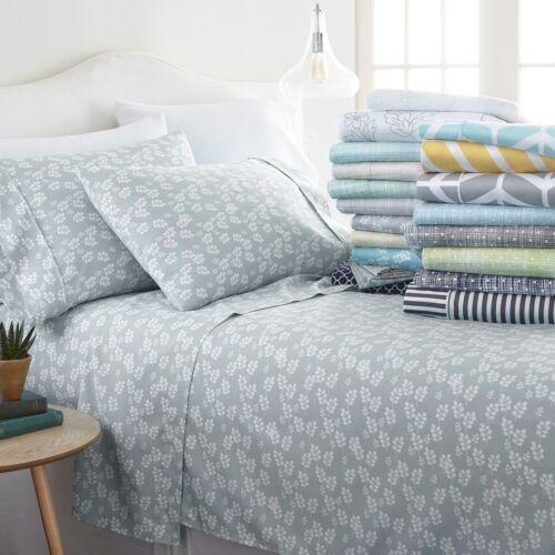 Home Collection Premium Soft 4 Piece Sheet Set 18 Designer All-Season Patterns