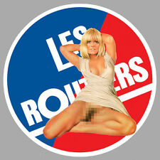 LES ROUTIERS PINUP SEXY CAMION TRUCK 9cm AUTOCOLLANT STICKER RA118