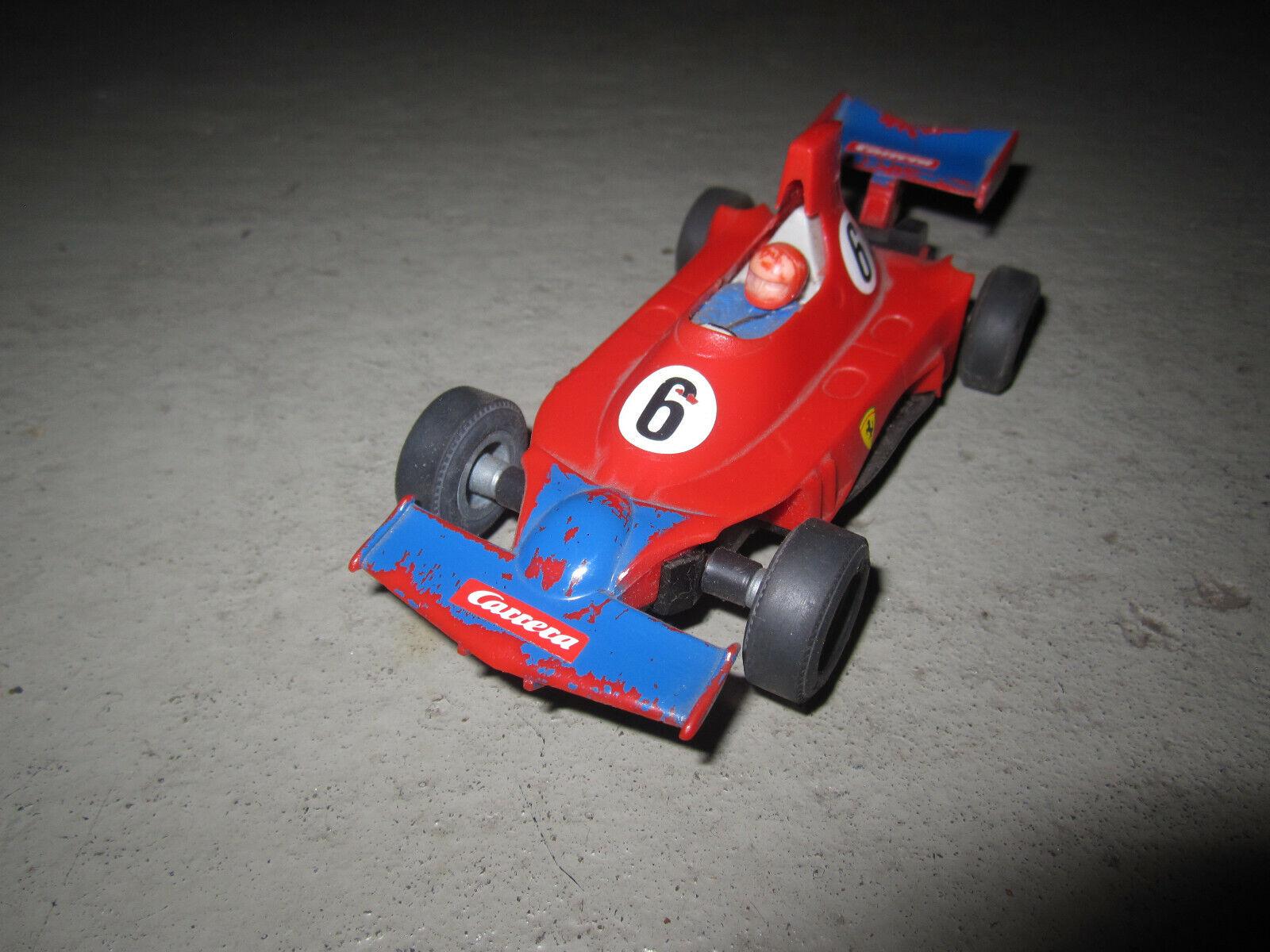 Carrera Universal 132   Ferrari Formelwagen schwarzer Auspuff + Goldener Motor