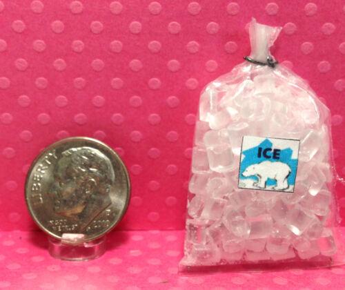 Dollhouse Miniature Bag of Ice 1:12 Scale