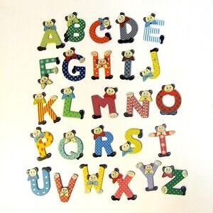 image is loading wooden letters bear design painted mixed colours decorate
