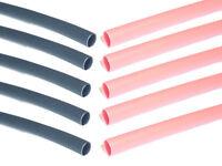 "2.4mm BLACK/RED Heat Shrink Heatshrink Tube Tubing - 2:1 RATIO - 10 x 20cms (8"")"