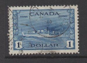Canada Sc#262 Naval Destroyer 1942-43, Used F- VF
