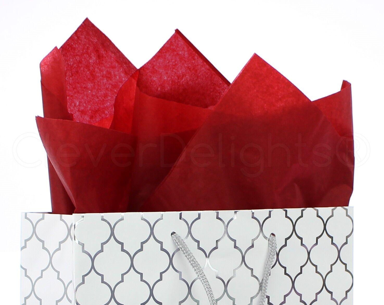 Lot de 100-Rouge Papier Tissu - 20  X 30  - Jumbo Papier Cadeau Papier vrac rame