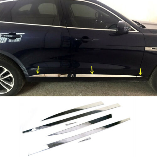 Side Door Body Molding Cover Frame Trim Chrome For Jaguar F-Pace X761 2016-2018