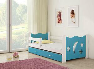 Dettagli su Letto pino per bambino Cameretta per bambini con materasso  160x80