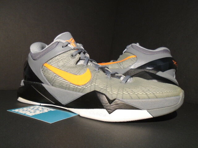 2012 NIKE ZOOM KOBE VII 7 SYSTEM WOLF GREY orange COOL BLACK WHITE 488371-002 10