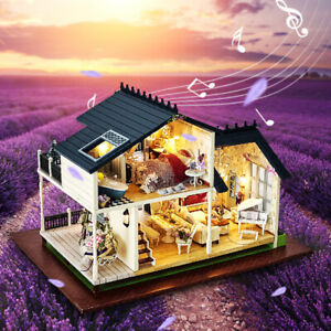 Doll-House-Miniature-DIY-Kit-Dolls-Toy-House-With-Furniture-LED-Light-Box-Gift