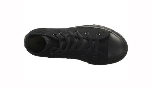 CONVERSE All Star Chuck Taylor Hi Top Black Mono Canvas Sneakers 3S121 Boy Shoes