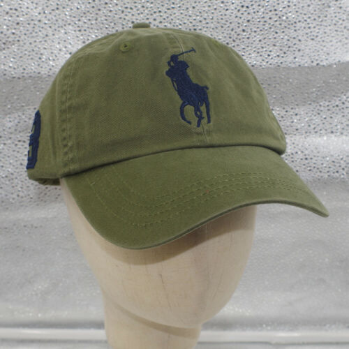 Polo Baseball Cap With Fine Embroidery 3 Big Pony Logo Adjustable Men/'s Hat NWT