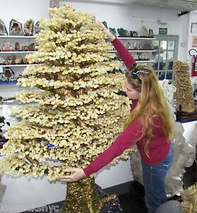 Biggest-on-Ebay-Hand-Made-Sculpture-of-CITRINE-TREE-274-Kg-604-Lbs-72inch-Tall