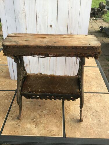Antique Primitive Shoe Shine Stool Bench Stand