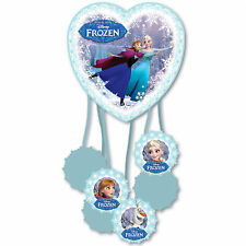 Disney's Frozen Ice Skating Heart Children's Party Folded Pull Pinata Game