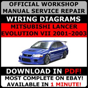 official workshop repair manual mitsubishi lancer evolution vii 7 rh ebay ie mitsubishi lancer evo 7 service manual Mitsubishi Lancer EVO 7 Year