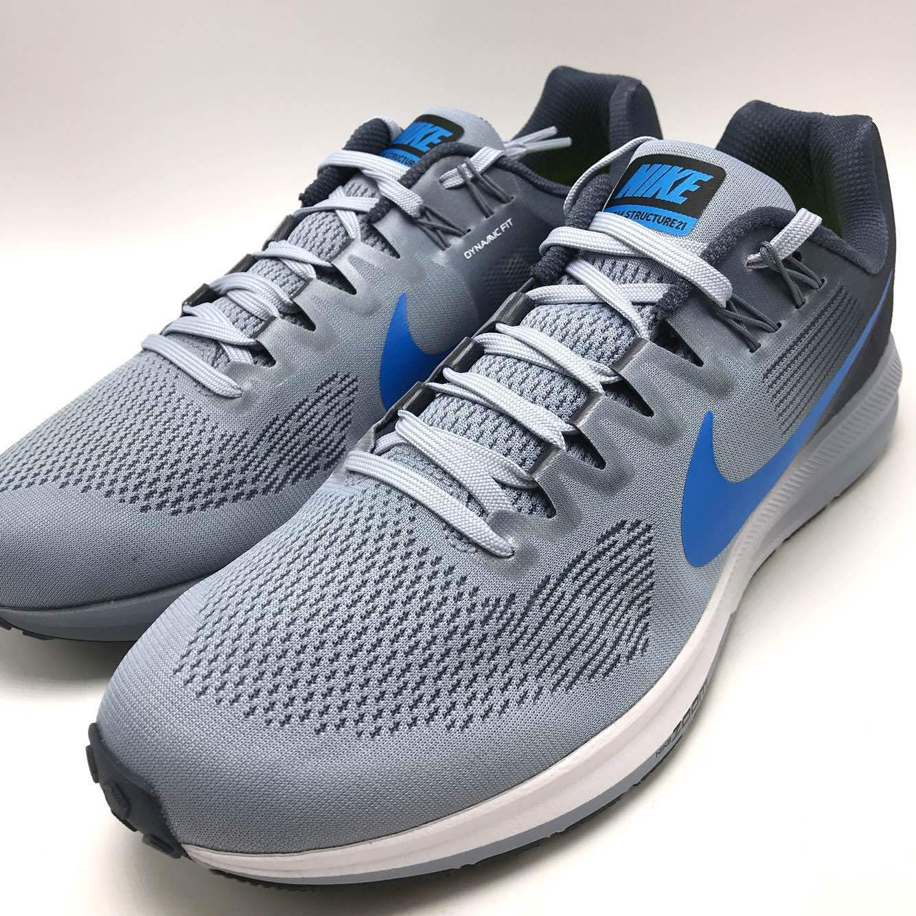Nike Air Zoom Grey/Photo Structure 21 Men's Running Glacier Grey/Photo Zoom Blue 904695-002 a31b69