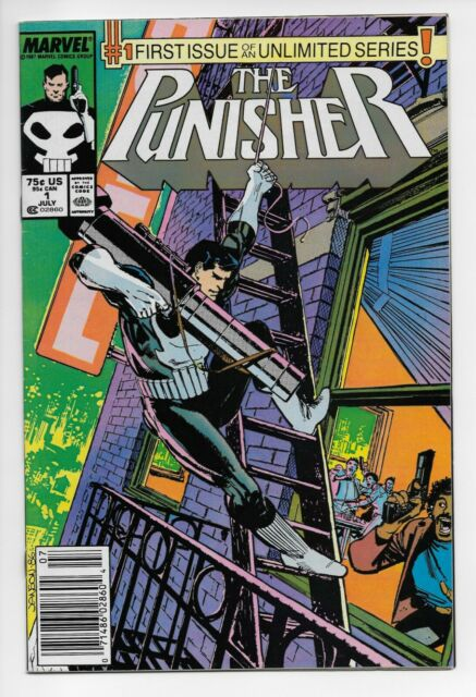 The Punisher #1 Newsstand Edition (Jul 1987, Marvel Comics)