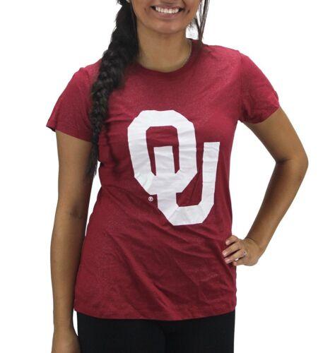 Creative Apparel Women/' s Oklahoma Sooners Glitter Bling T-Shirt