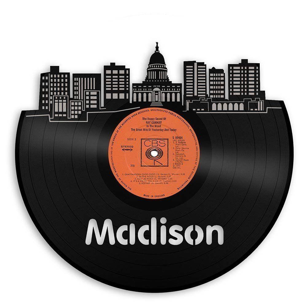 Madison City Skyline Vinyl Wall Art Cityscape Sign Room Decor Home Unique Decal
