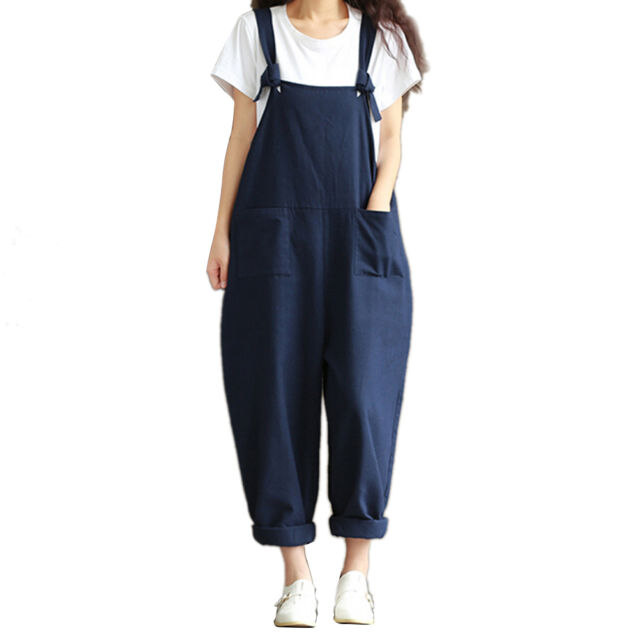 69265aec28f Womens Oversized Dungaree Jumpsuits Overalls Loose HAREM Pants Trousers 5t  3xl for sale online