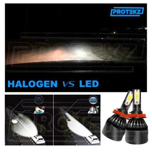 Protekz H4 9003 HB2 LED Headlight Bulb CREE COB Kit High Low Beam 6000K 7600LM
