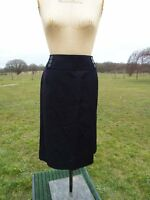 Flattering Per Una Black Tailored Pencil Skirt Lined Size 14 Long Rrp £45