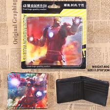 USA NEW - Marvic Comic Ironman Beaming Light Red Bi Fold PU Leather Wallet