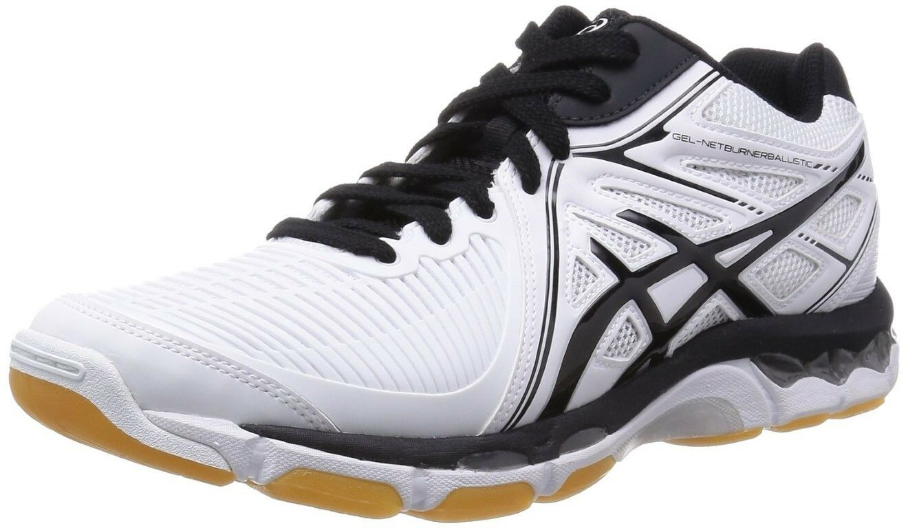 ASICS Vollyball shoes GEL-NETBURNER BALLISTIC MT Size White x Black Serect Size MT JPN 5cb46c