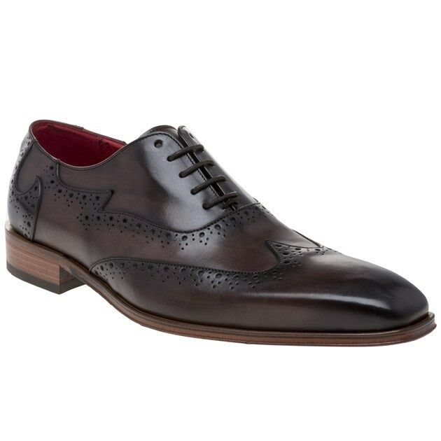 New New New Mens Jeffery West braun Jb51 Leather schuhe Brogue Lace Up d02fbd