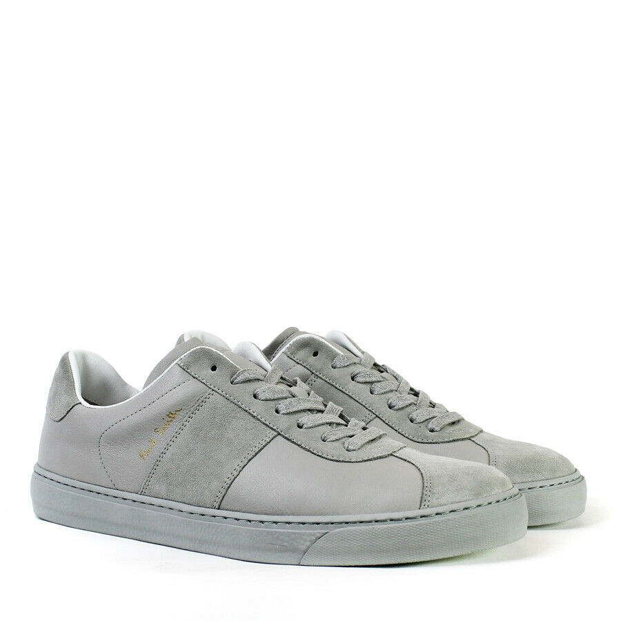 Paul Smith - Levon Leather Trainers in Grey - Size RRP