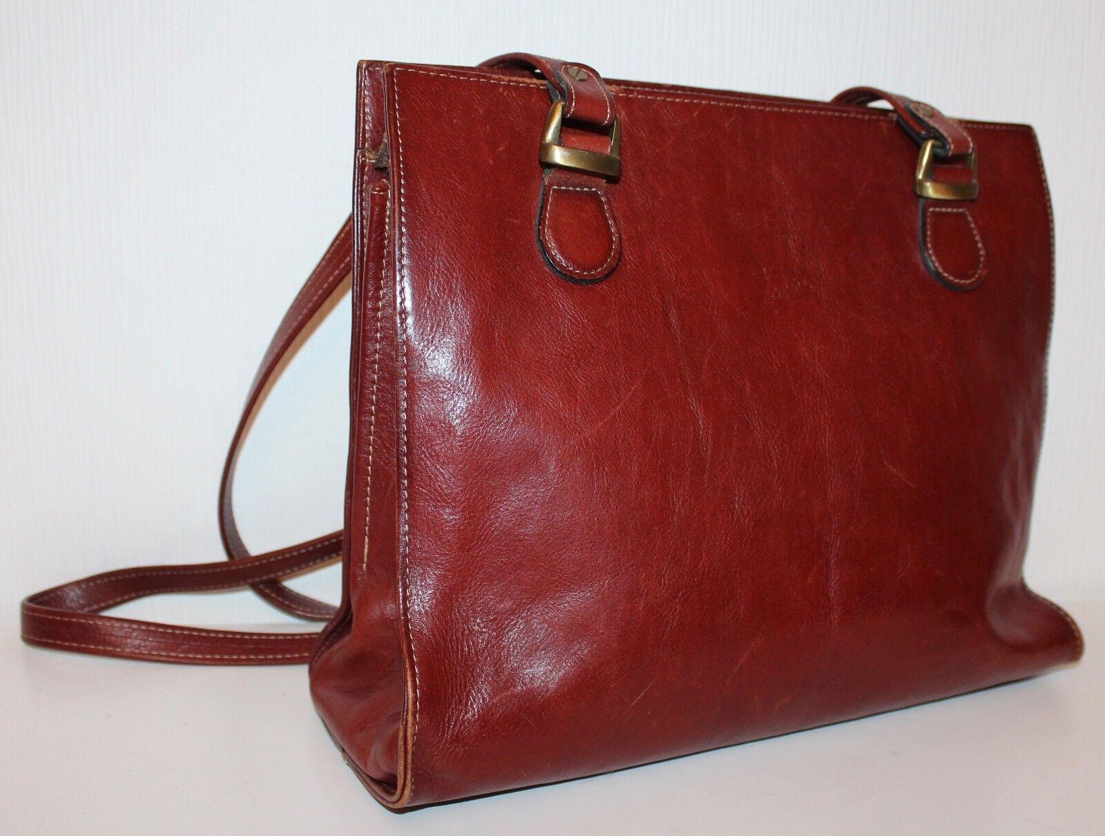TEXIER 70er 70er 70er Vintage Leder Tasche 70s VTG Leather BAG COGNAC Schultertasche TOTE | Zuverlässiger Ruf  | Rabatt  | Haltbarer Service  | Eine Große Vielfalt An Modelle 2019 Neue  fc0845