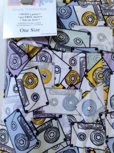 Leggings Lularoe Music Htf One 80's Cassette Nuovo Retro Os Size Tapes nR44xrX8zq