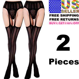 Women-Garter-Belt-Stay-Up-Fishnet-Thigh-High-Stocking-Sock-Tights-Mesh-Pantyhose