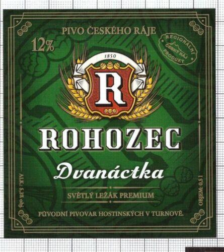 CZECH Brewery Rohozec Dvanactka new 2020 beer label C2386 014