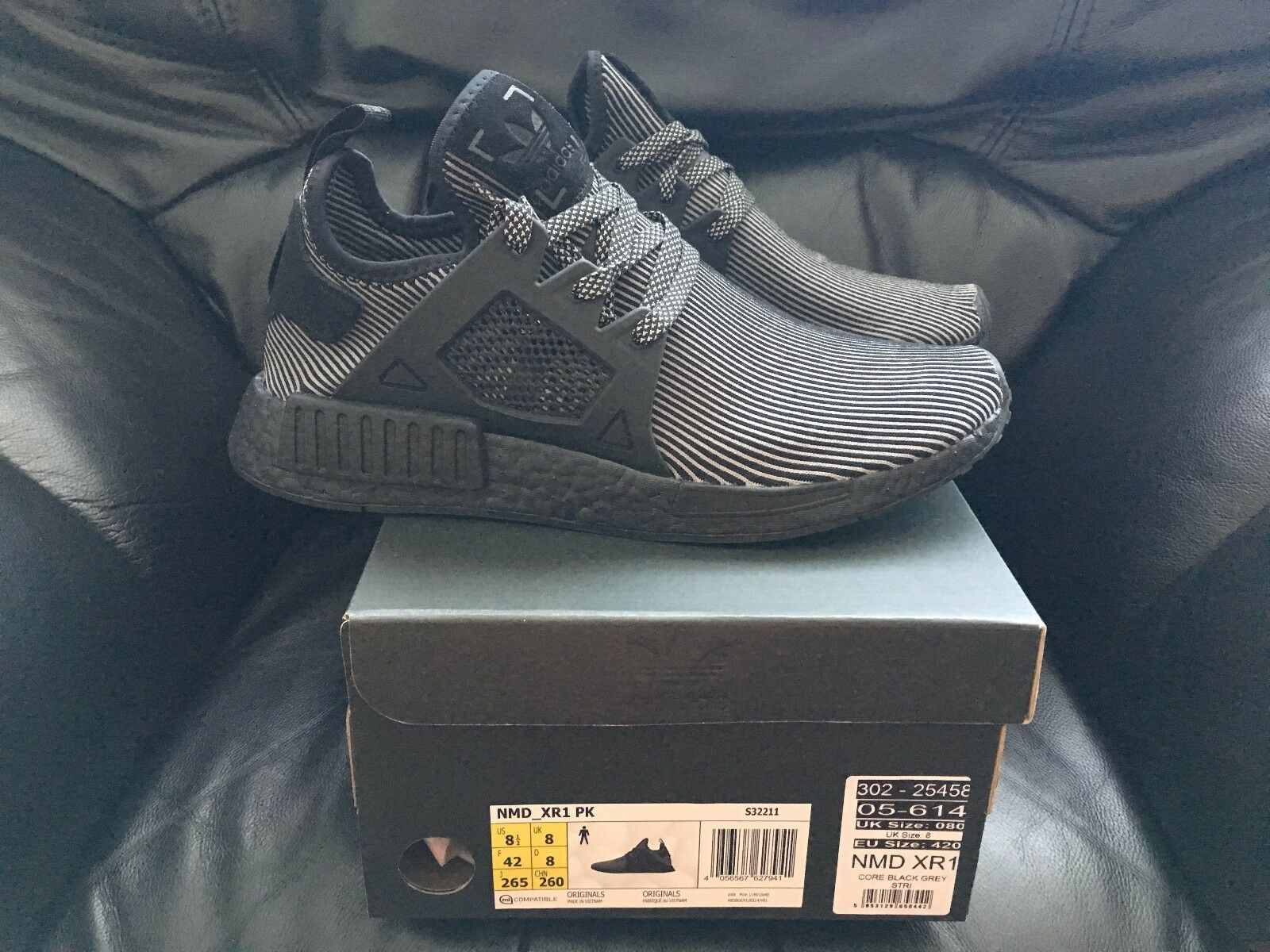ADIDAS NMD XR1 courirNER TRIPLE noir PRIMEKNIT TailleS7 & 8 NEW